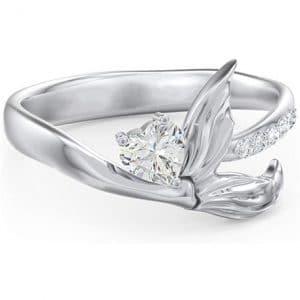 anillo cola de sirena brillante