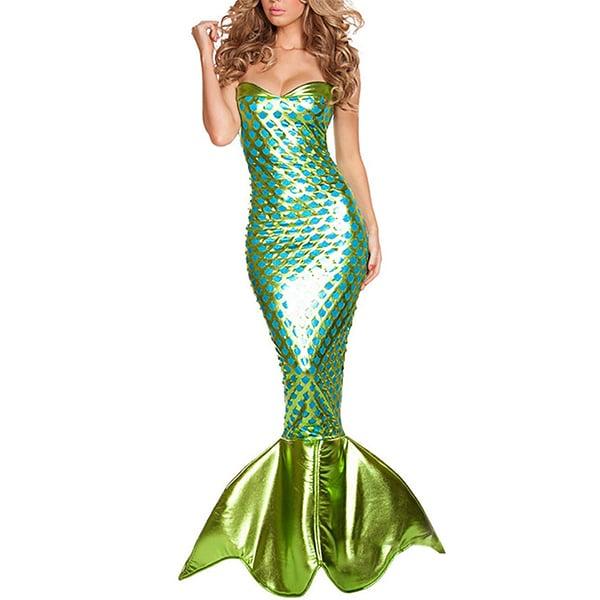 Disfraz de sirena verde
