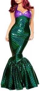 vestido sirena cola